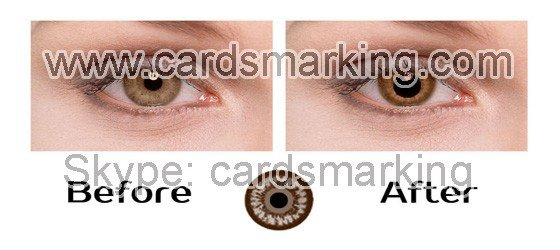 Infrarot Kontaktlinsen Poker für braune Augen