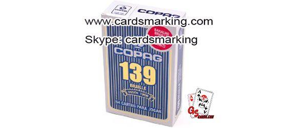 Kennzeichnung Copag 139 Barcode-Karten mit unsichtbarer Tinte