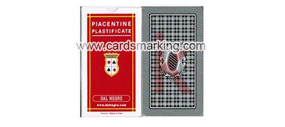 Dal Negro Piacentine Markierte Spielkarten