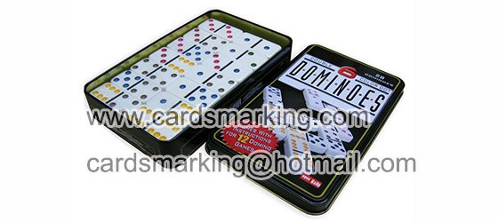 White Marked Domino For Playing Cards Scanner