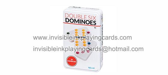 Weißer markierter Domino für Spielkarten-Scanner