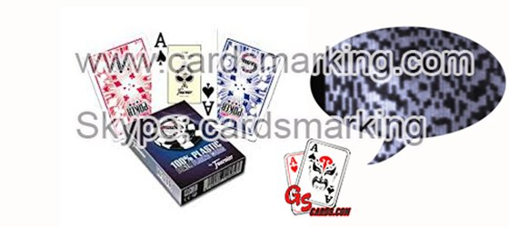 Unsichtbare Tinte markierte Barcode-Decks für Poker-Analysesystem