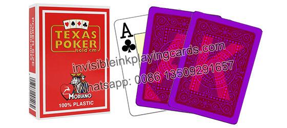 Modiano Texas Holdem Markierte Spielkarten