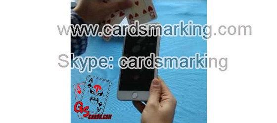 Austausch von Markierungskarten mit Iphone6 Poker Werkzeug