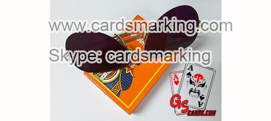 Markierte Spielkarten leuchtende Tinte Brille