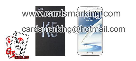 Markierte Karten AKK K5 Poker Analysator