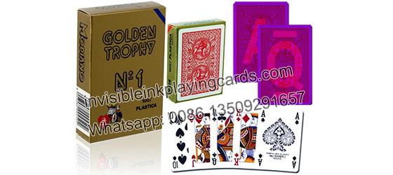 Modiano Golden Trophy Leucht markierte karten