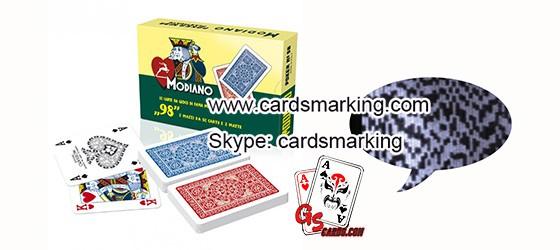 Poker Analysator zum Scannen von unsichtbarer markierte Decks spielen