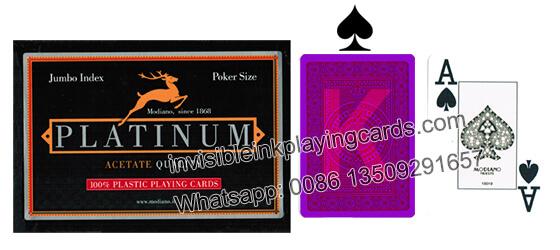 Modiano Platinum Markierte Poker Karten