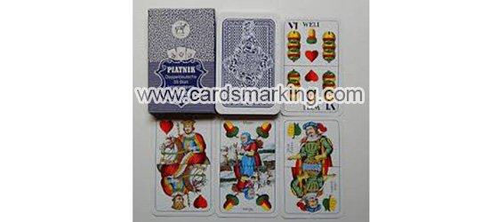 Piatnik Doppeldeutsche Nr.1808 Markierte Spielkarten