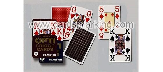 Piatnik OPTI Bridge Size 4 Index Mmarkierte Spielkarten