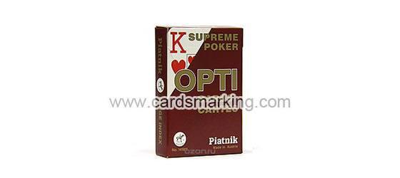 Piatnik OPTI Leuchtende rot markierte Spielkarten
