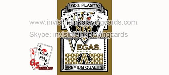 Vegas markierte leuchtende Plastik spielkarten